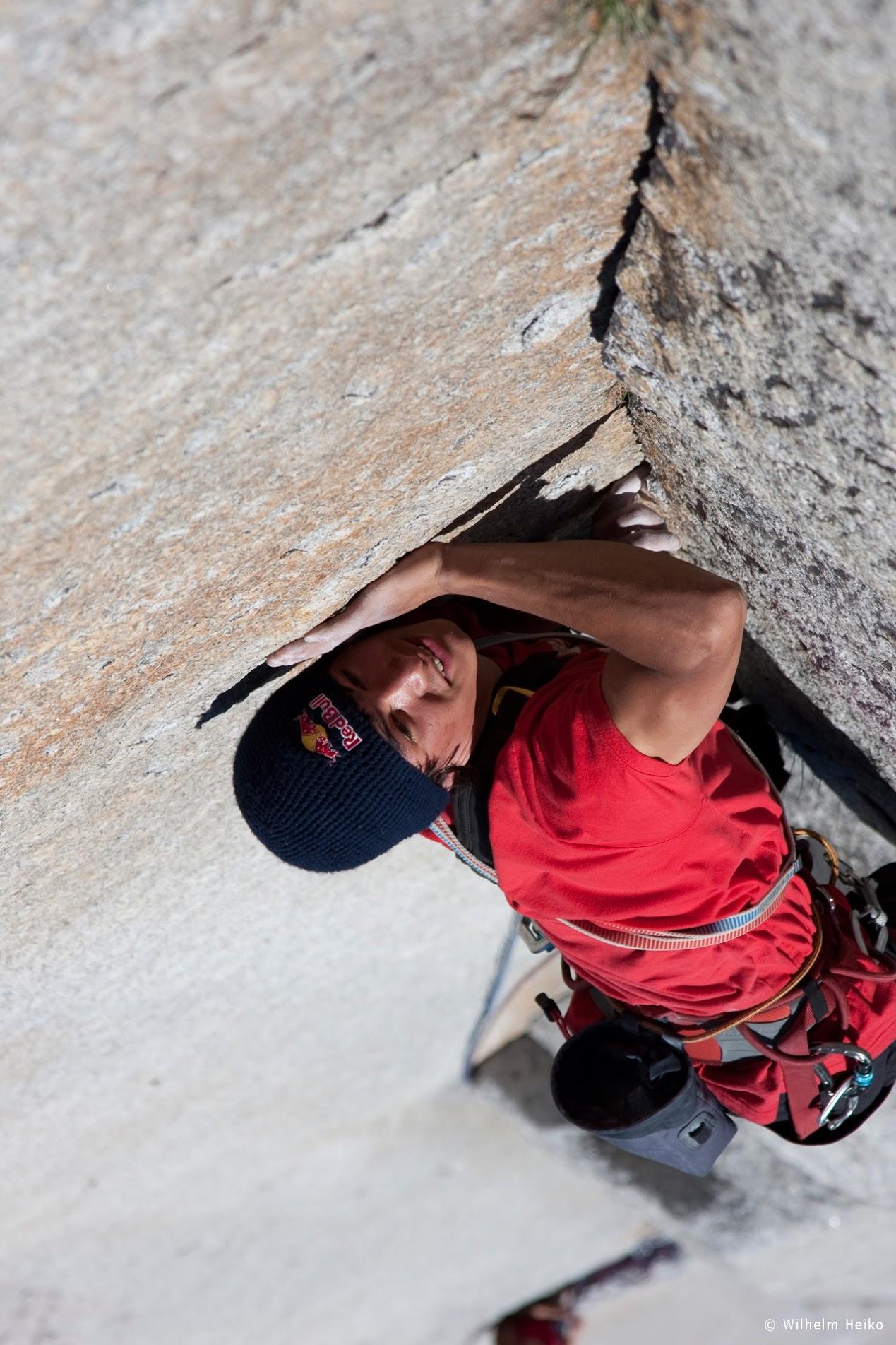 David Lama sube el 12° largo del Nunca Más Mariscos.